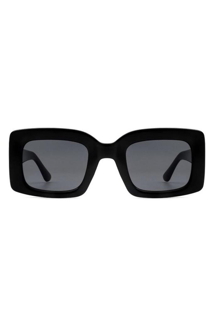 Koko Black Retro Square Vintage Sunglasses