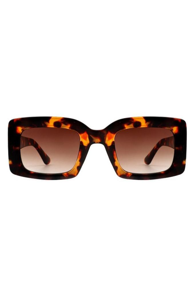 Koko Tortoise Retro Square Vintage Sunglasses