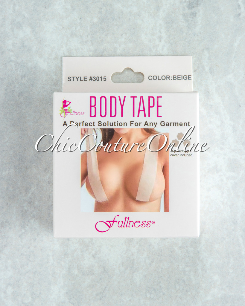 Fearless Beige Instant Lift Body Tape w Nipple Covers