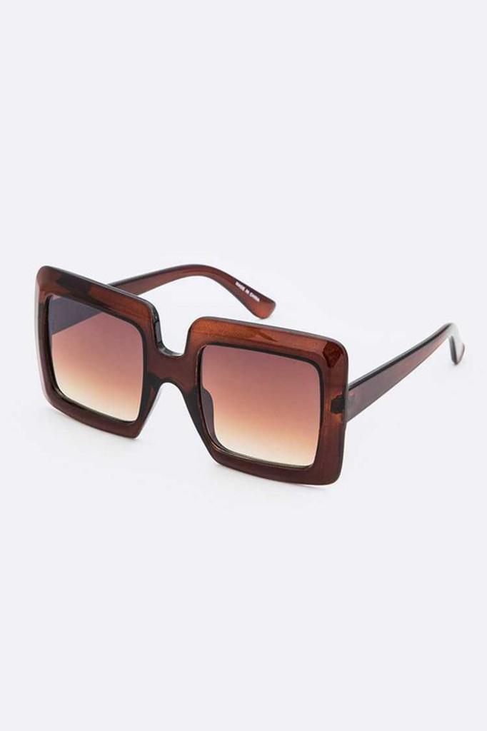 Idris Brown Oversize Square Sunglasses