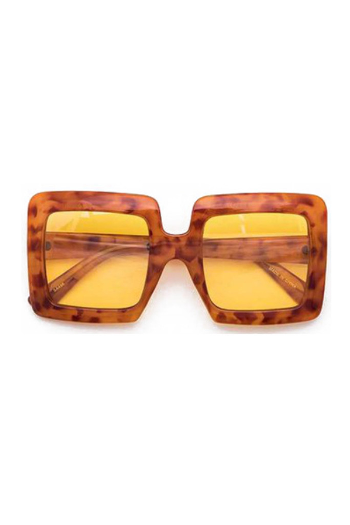 Idris Tortoise Oversize Square Sunglasses
