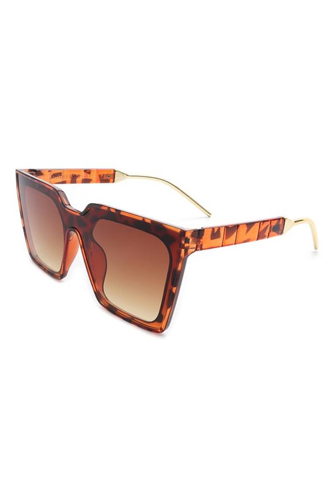Gareth Brown Tortoise Square Oversize Cat Eye Sunglasses