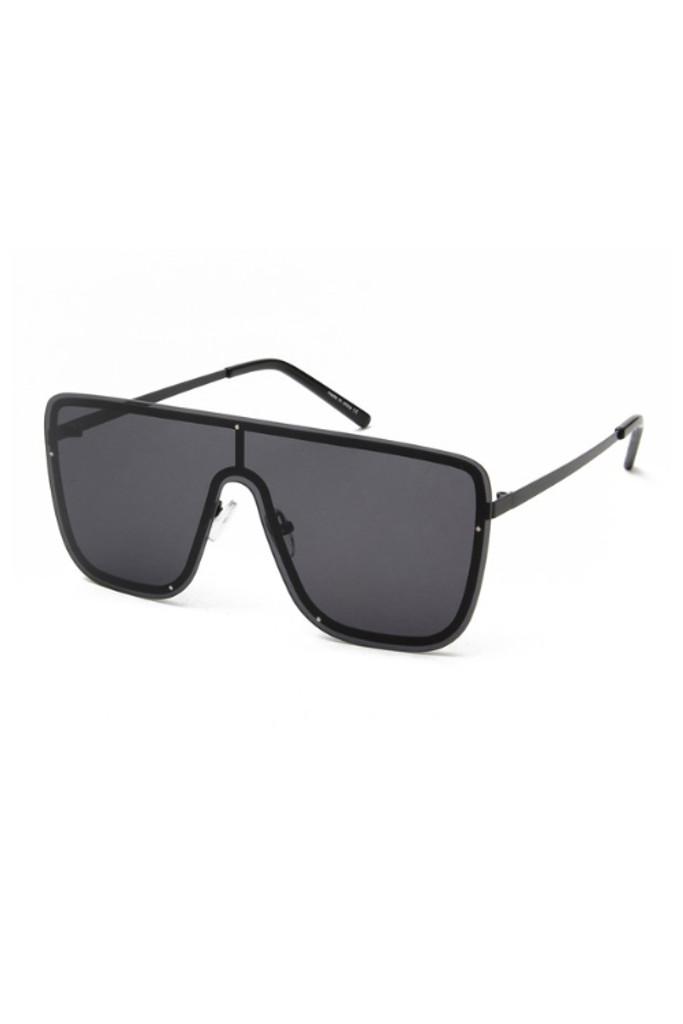 Aleks Black Oversize Square Sunglasses