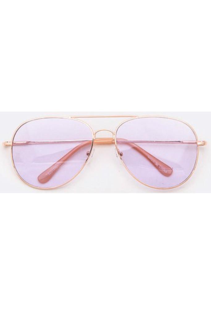 Pedro Lavender Aviator Sunglasses