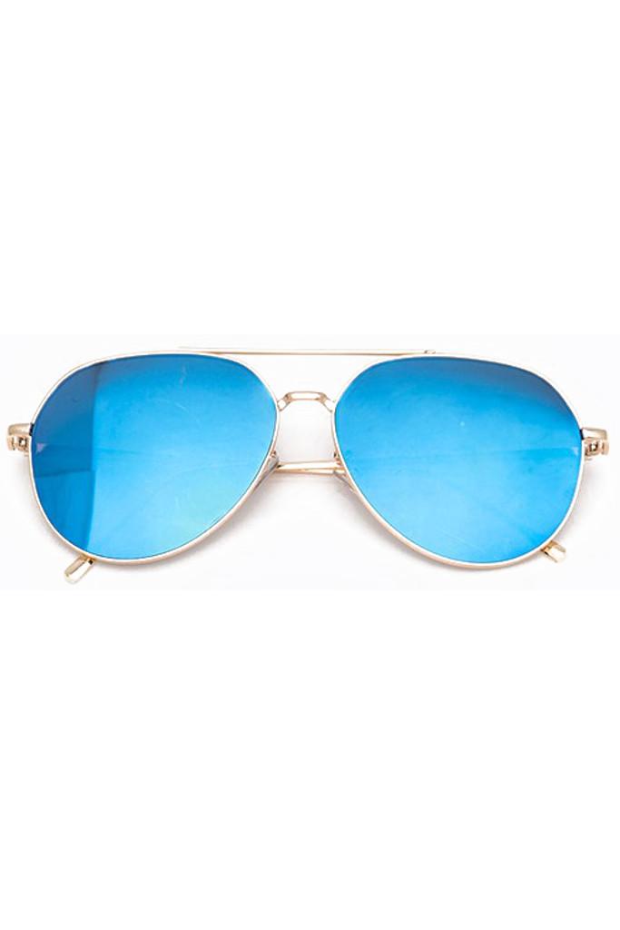 Yanina Blue Aviator Sunglasses