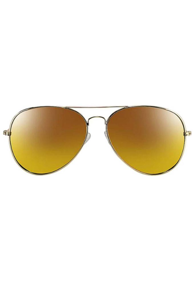 Yanina Gold Aviator Sunglasses