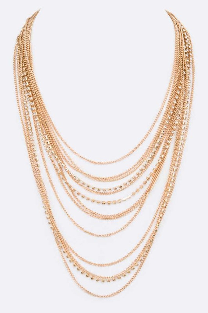 Chrissy Gold Mix Chain Layer Iconic Necklace