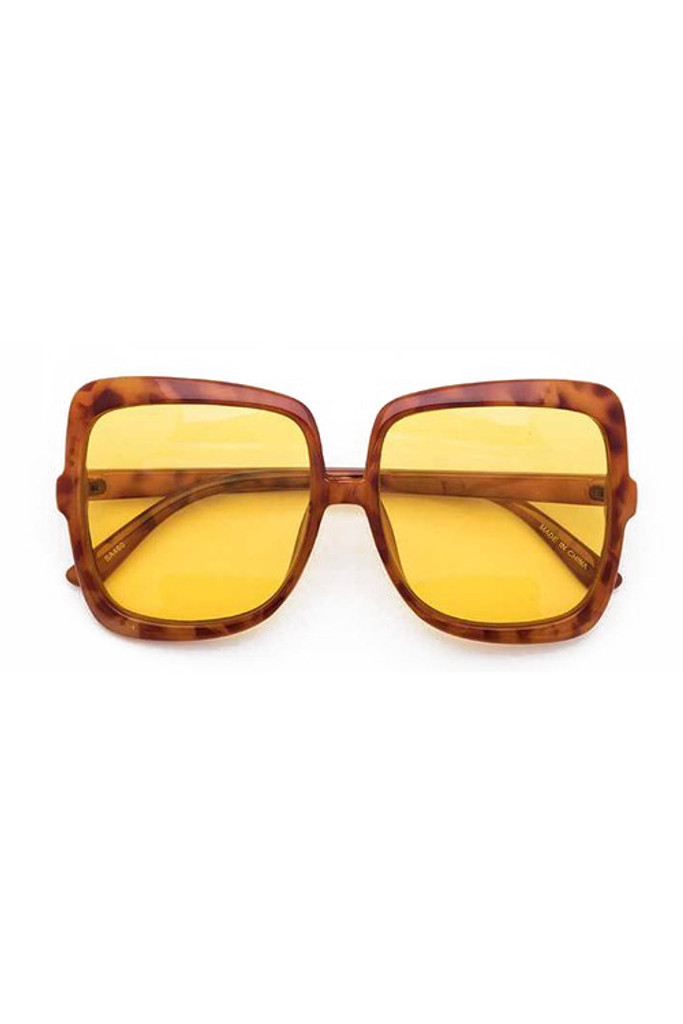 Tasha Orange Oversize Square Mix Tint Sunglasses