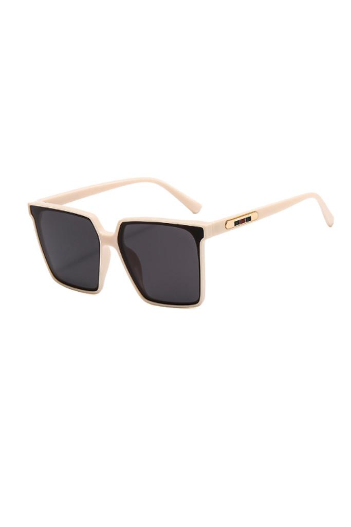 Mario Beige Oversize Sunglasses