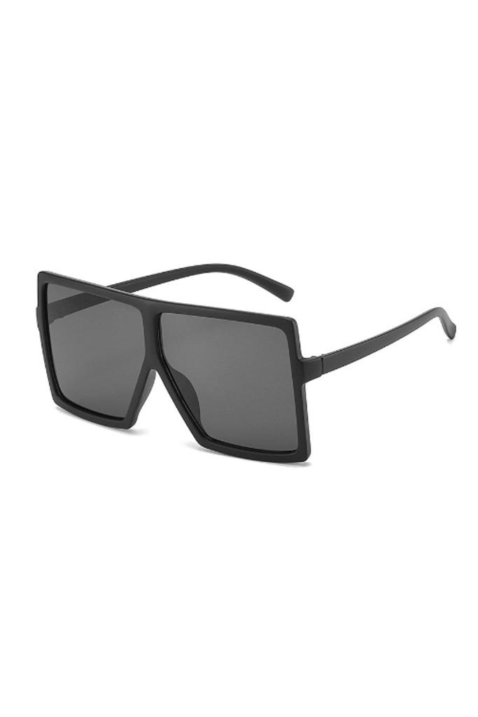Mario Black Matte Oversize Sunglasses