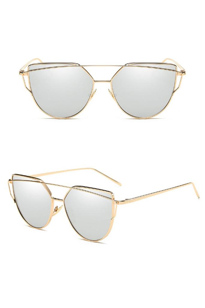 Penny Silver Mirror Cateye Sunglasses