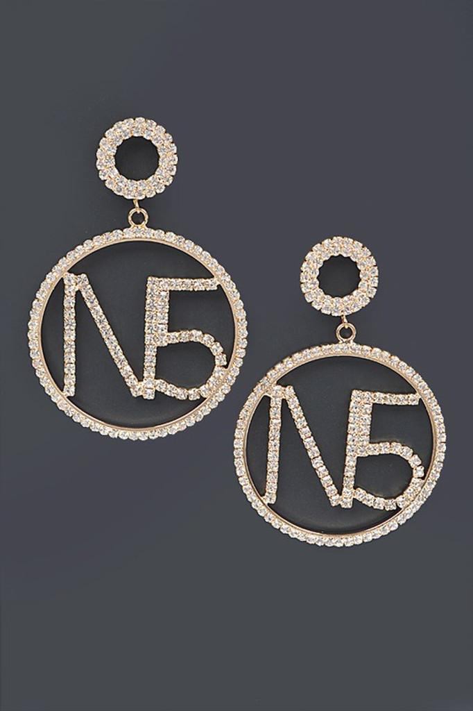 COCO Round Rhinestone Earrings