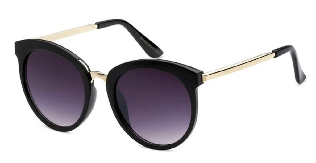 BB - Big Black Frame Gradient Lens Sunglasses
