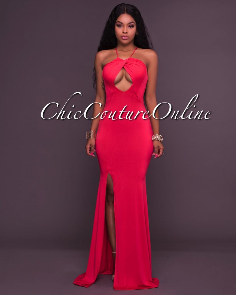 Milani Red Cut Out Maxi Dress