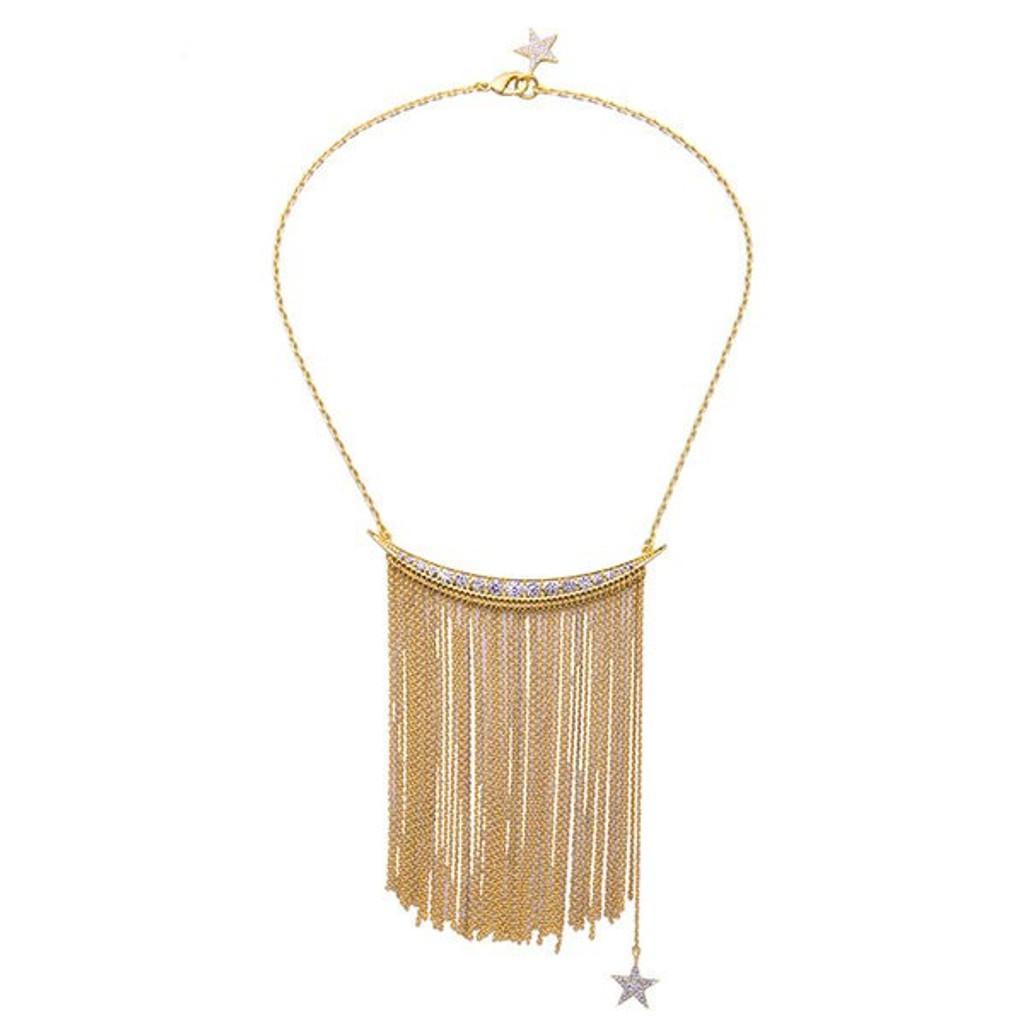 Dany Statement Tassel Chain Bib Necklace