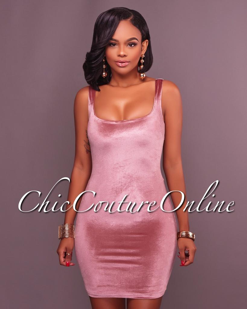 Jayla Rose Velvet Fitted Dress
