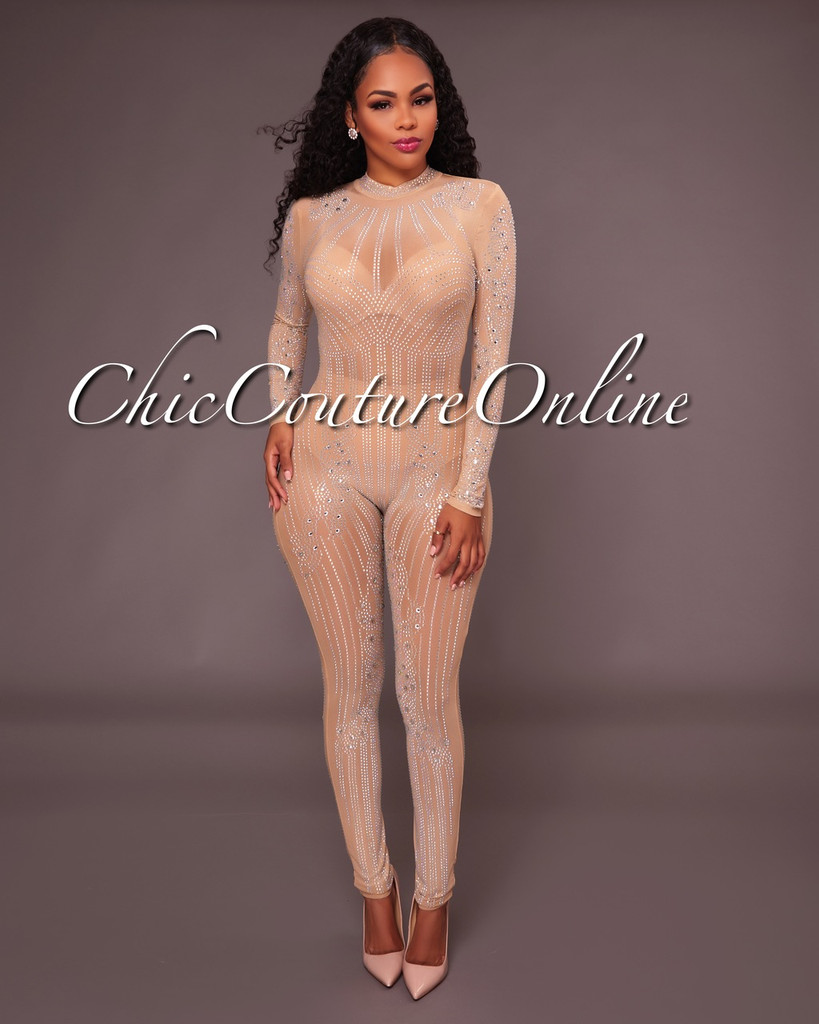Shella Nude Illusion Jumpsuit