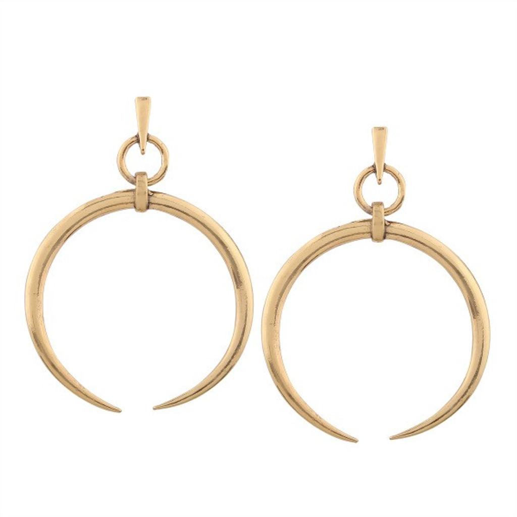 Eclipse Golden Statement Moon Dangle Earrings