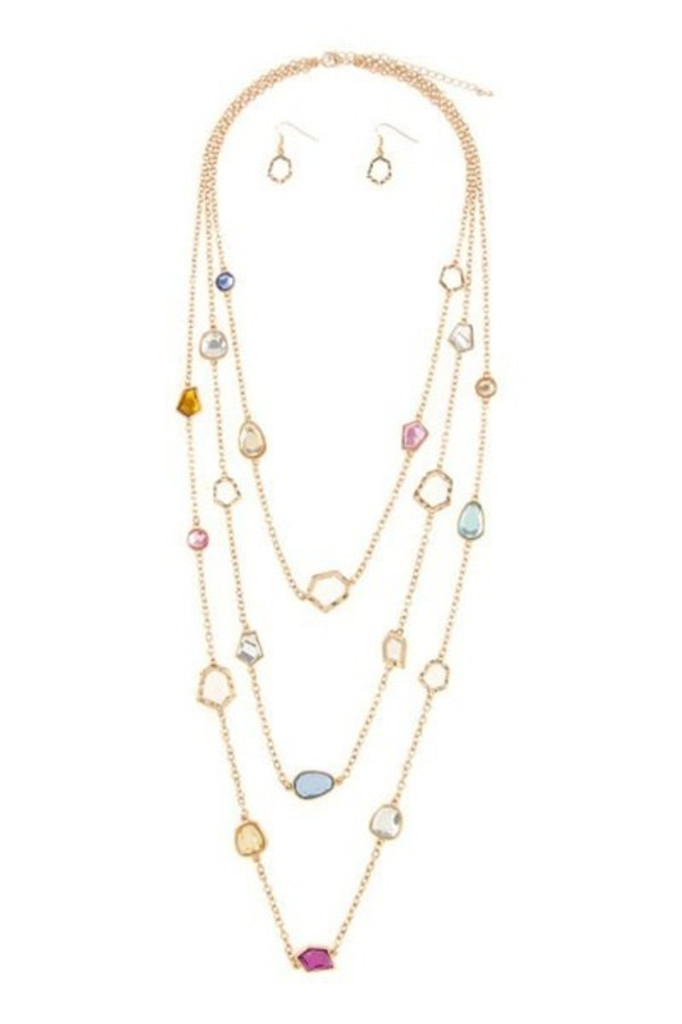 Steph Multi Layer Golden Chain  Necklace