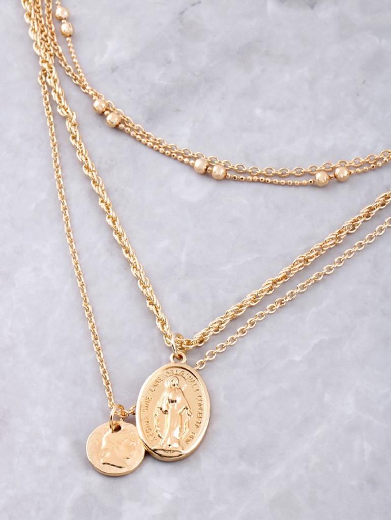 Kamira Golden Four Layered Necklace Set Necklace Pack