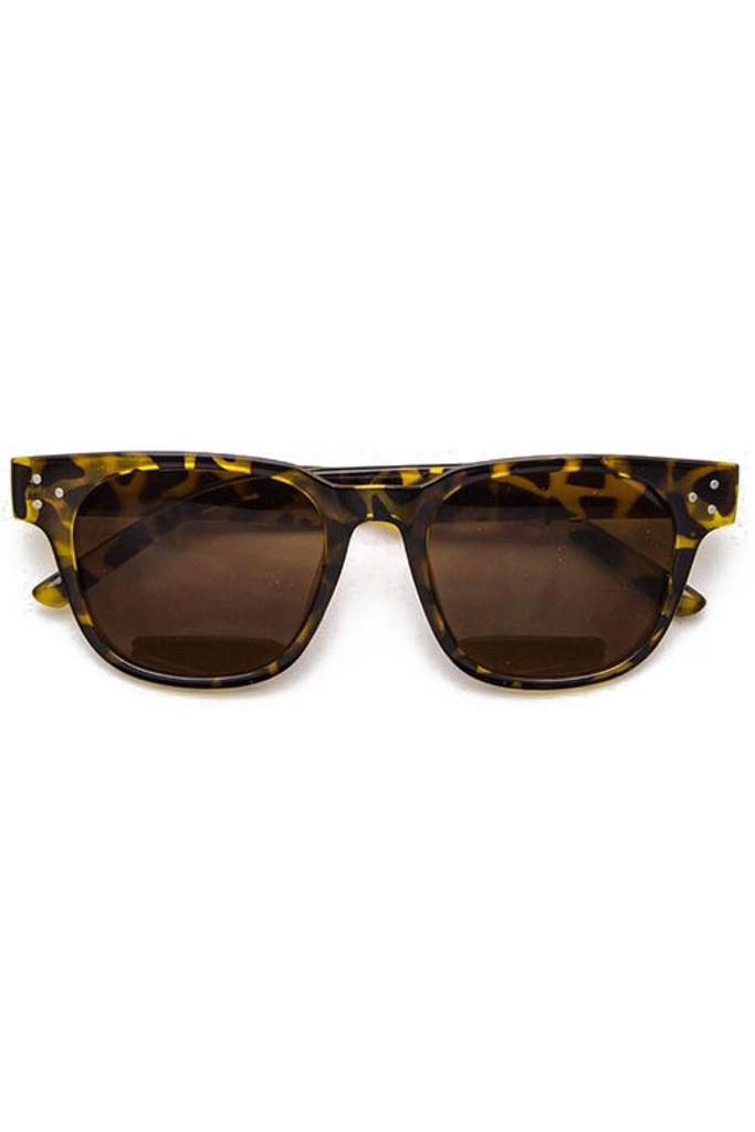Rosy Tortoise Wayfarer Studded Sunglasses
