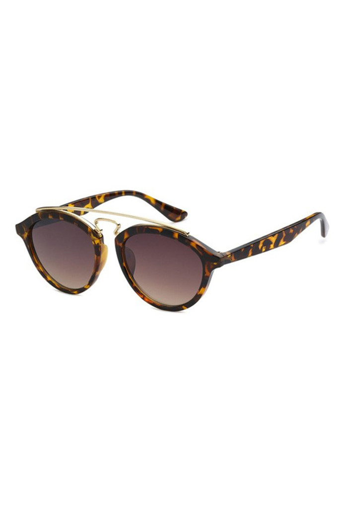 TBAR Tortoise Brown Gradient Lens Sunglasses