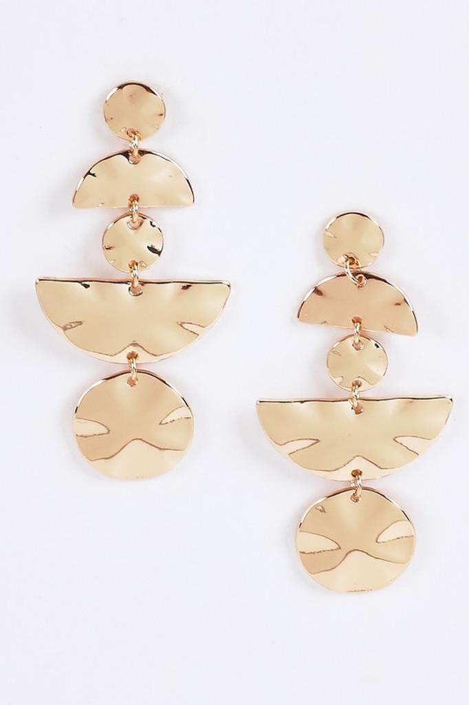 Cynn Gold Coins Dangle Earrings