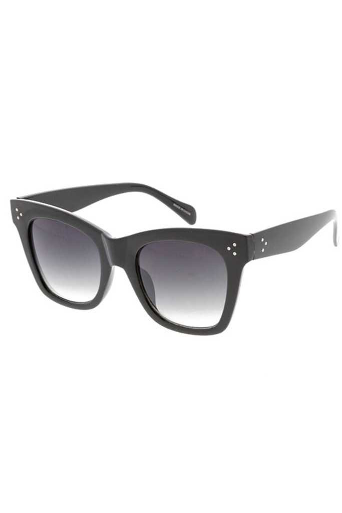 Jessa Black Frame Gradient Lens Sunglasses