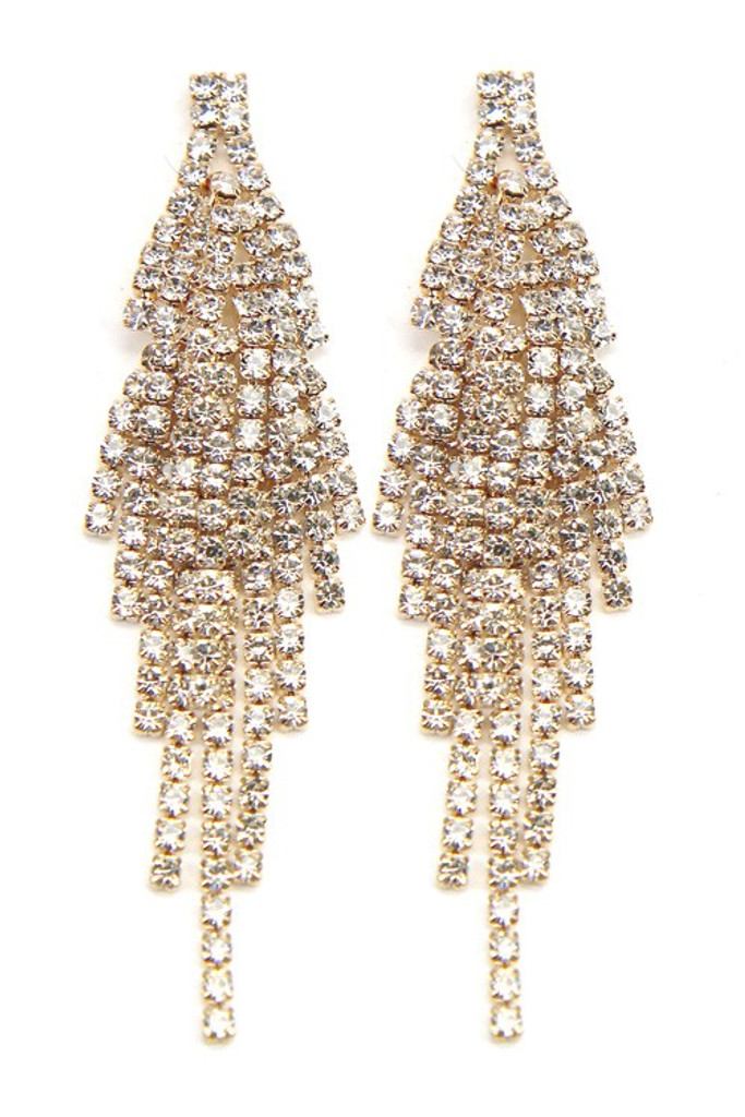 Tami Crystal Pavé Statement Drop Dangle Earrings