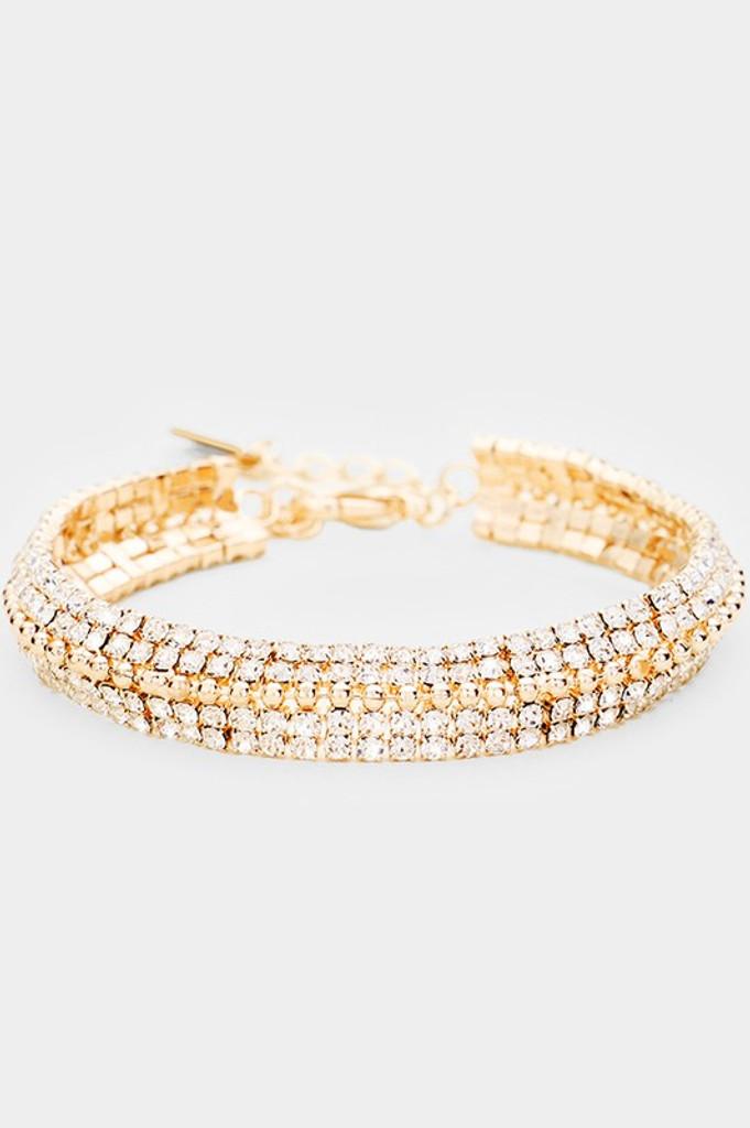 Naddy Golden Pavé Rhinestones Bracelet
