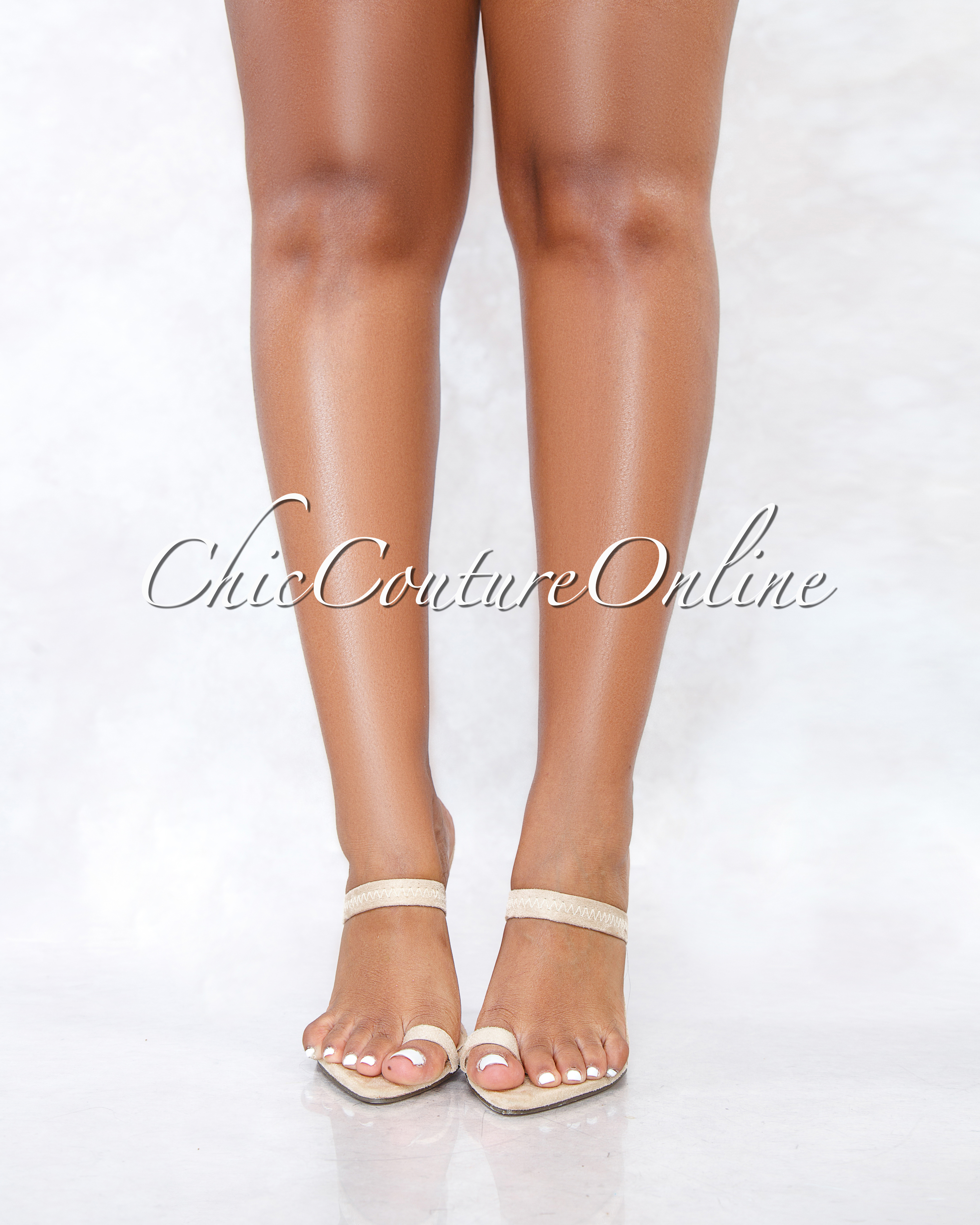Gordon Nude Faux Suede Pointed Toe Single Finger Heels