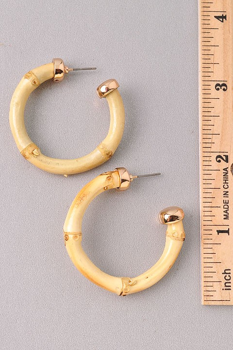 Somara Ivory Hoop Earrings