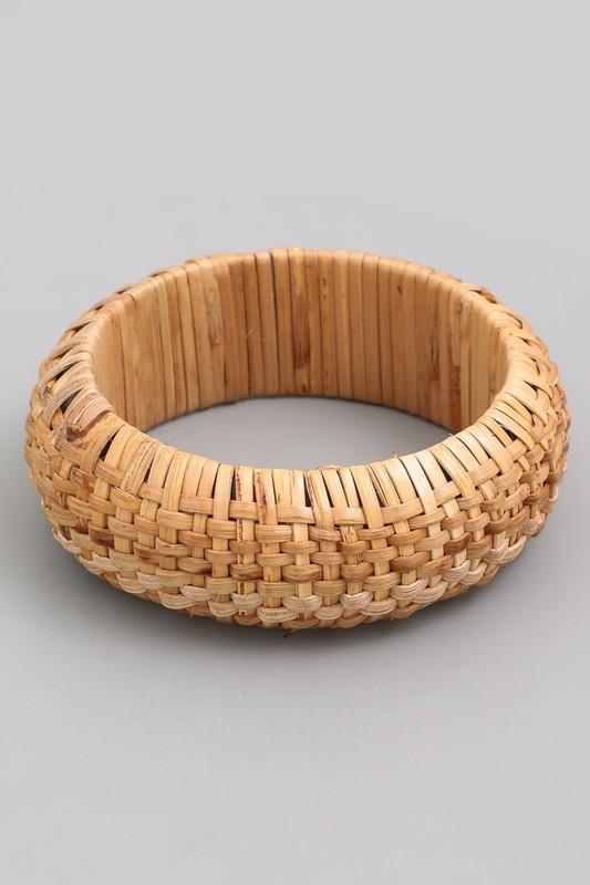 Shawna Woven Straw Bangle Bracelet