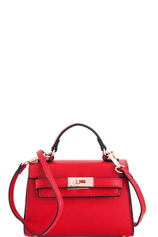 Carolyn Red Mini Satchel Bag