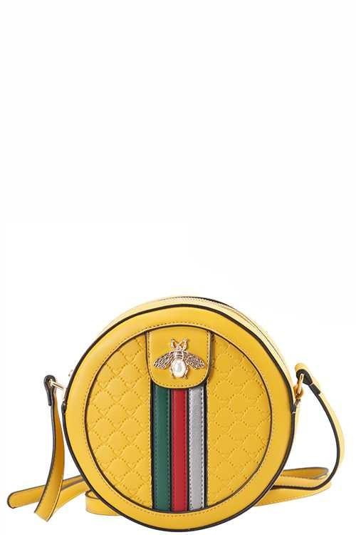 Channa Yellow Mini Round Bag