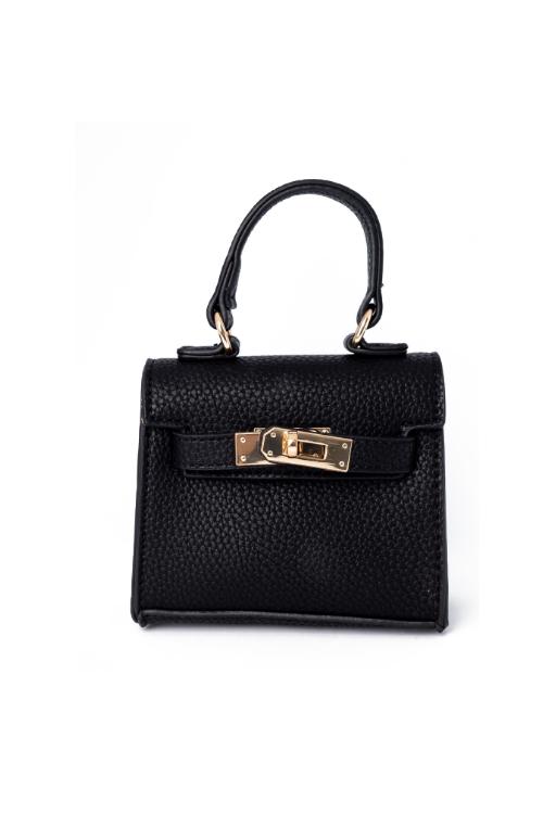 Carro Black Mini Satchel Bag