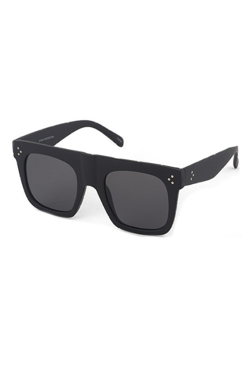Tilly Matte Black Sunglasses