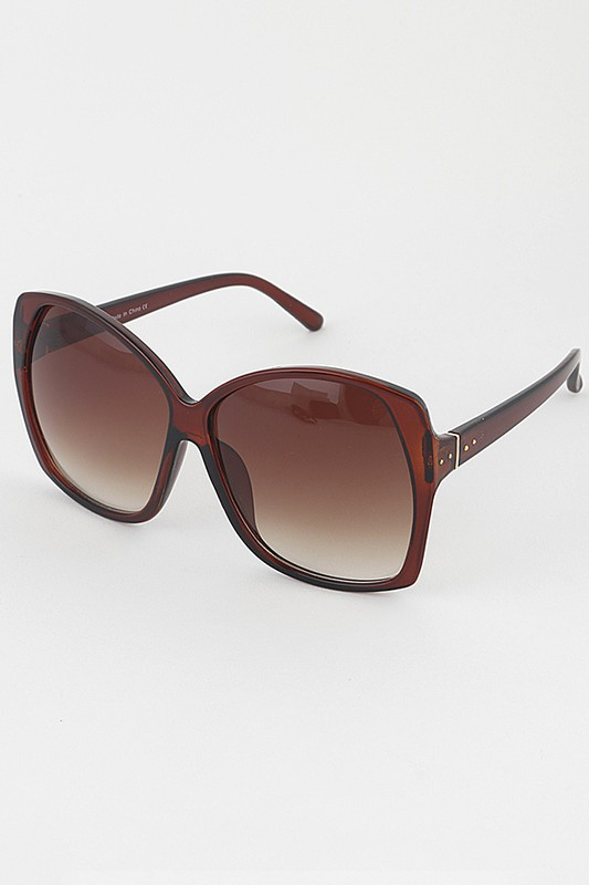 Devy Big Frame Brown Sunglasses