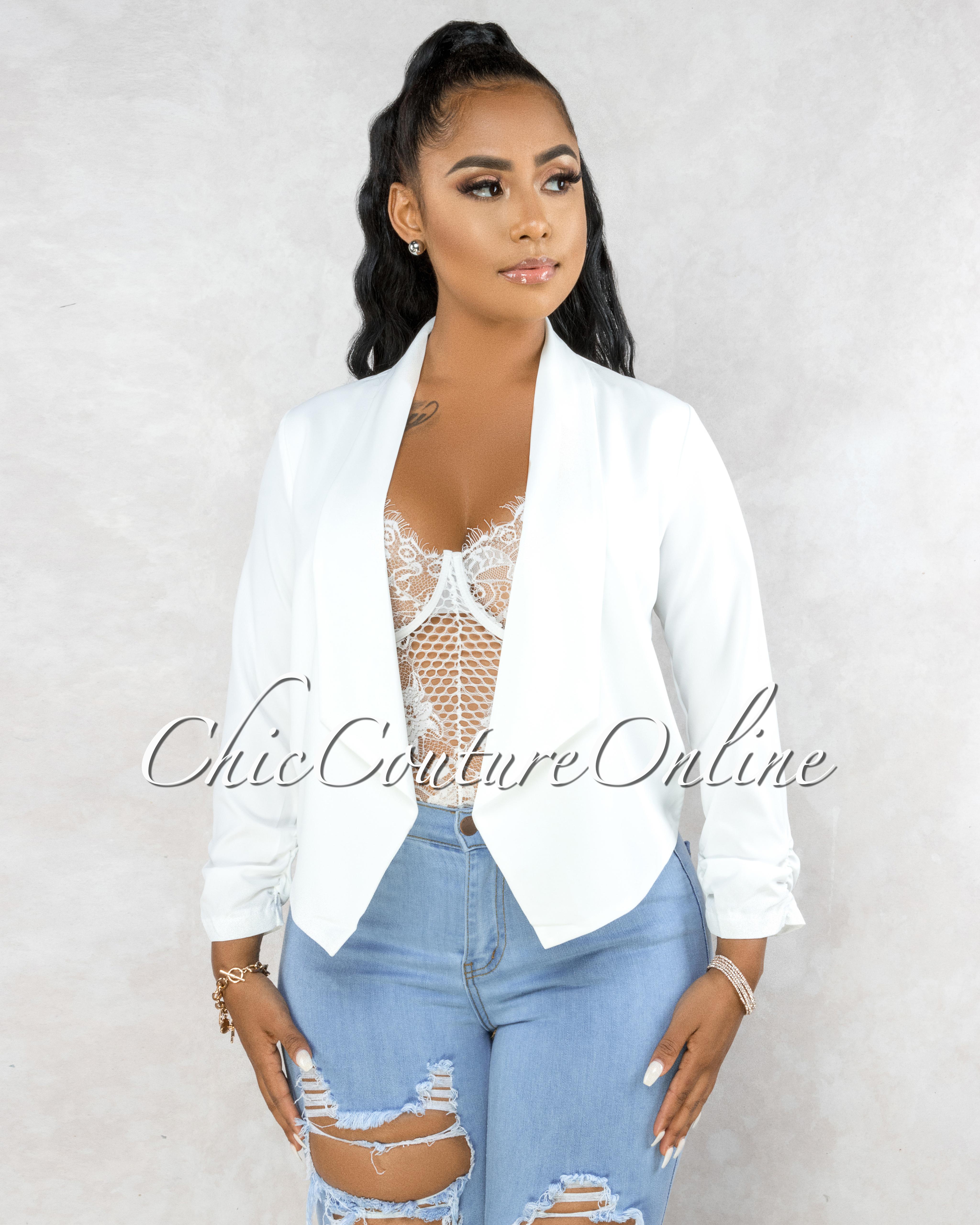 Pomona Off-White Long Sleeves Jacket