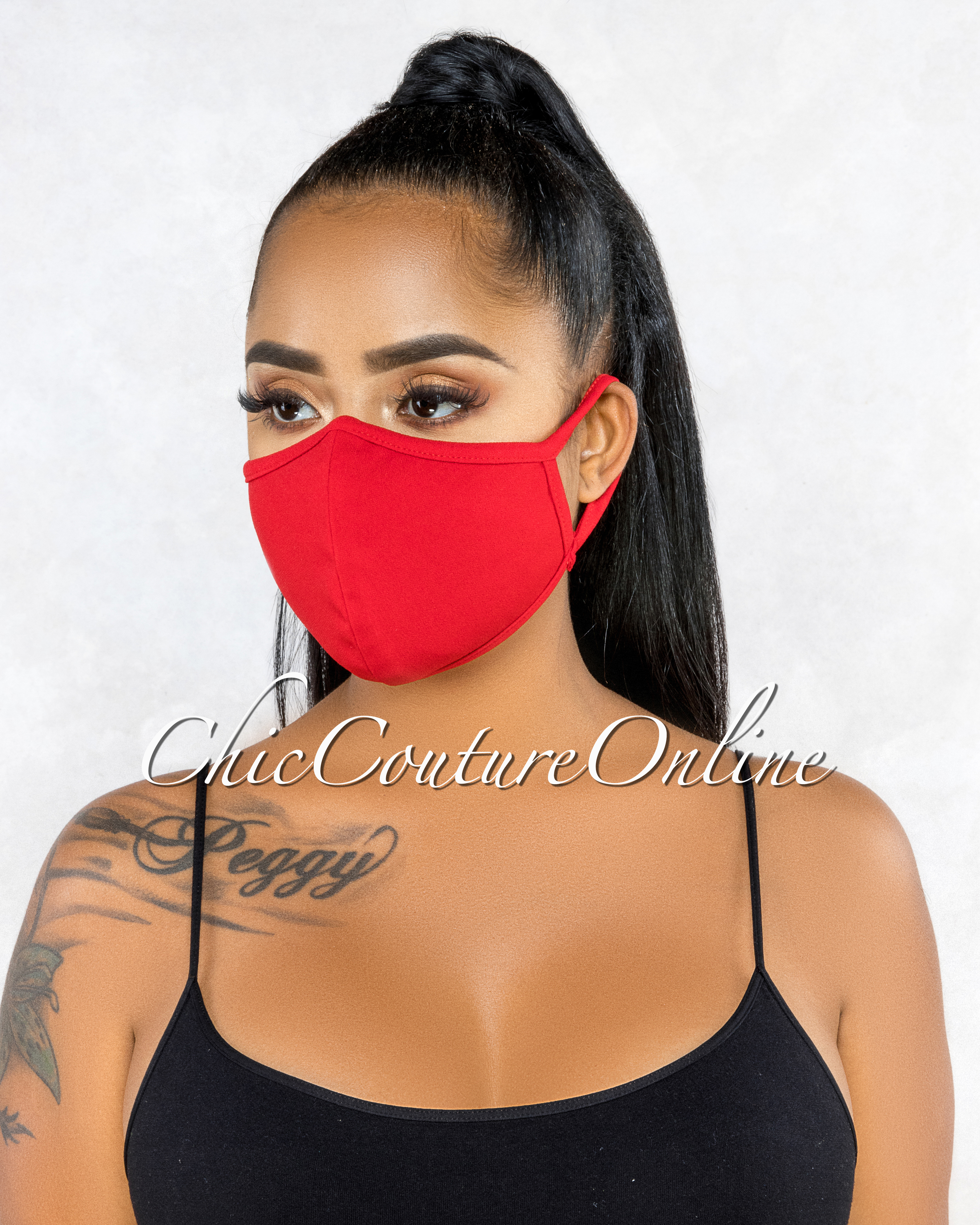 Marquisa Red Reusable Fashion Face Mask