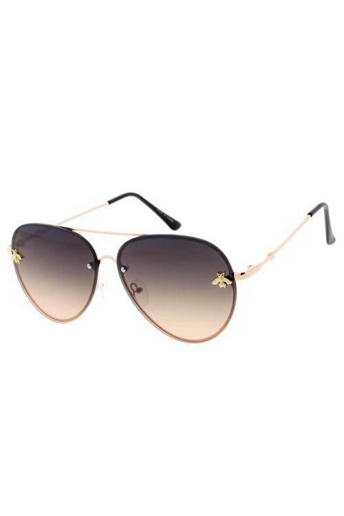 Suri Black Gradient Bee Sunglasses