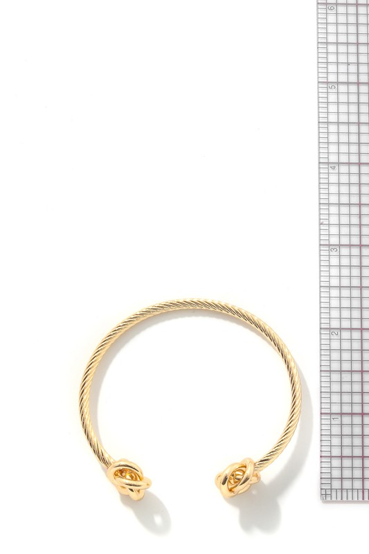 Wally Gold Knoted Metallic Cuff Bracelet