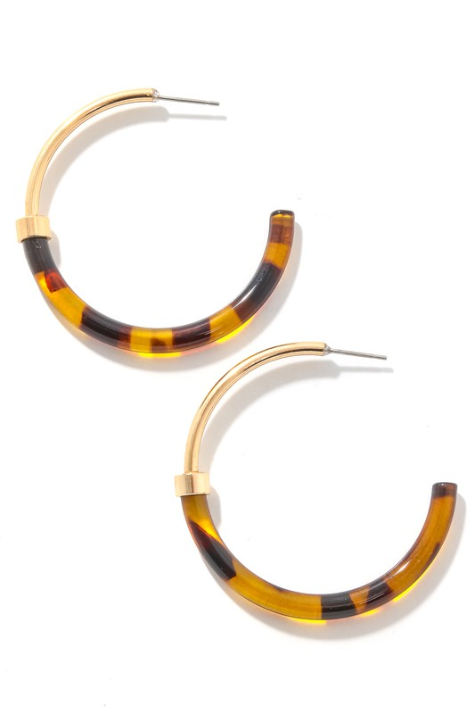 Joya Gold & Tortoise Hoop Earrings