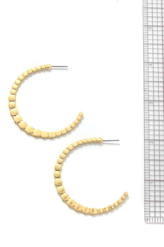 Fonia Gold Hammered Ball Hoop Earrings Hoop Earrings