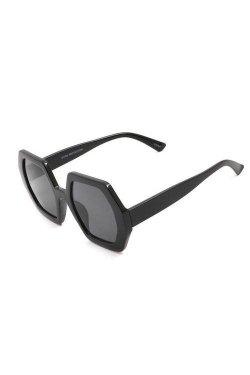 Oxxa Black Hexagon Sunglasses