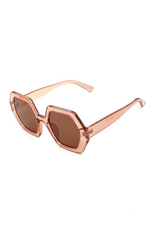 Oxxa Blush Hexagon Sunglasses