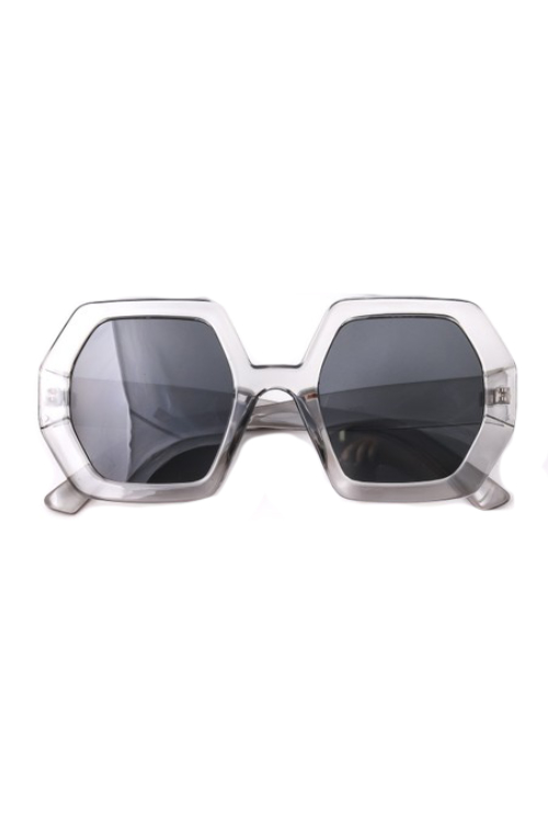 Oxxa Grey Hexagon Sunglasses