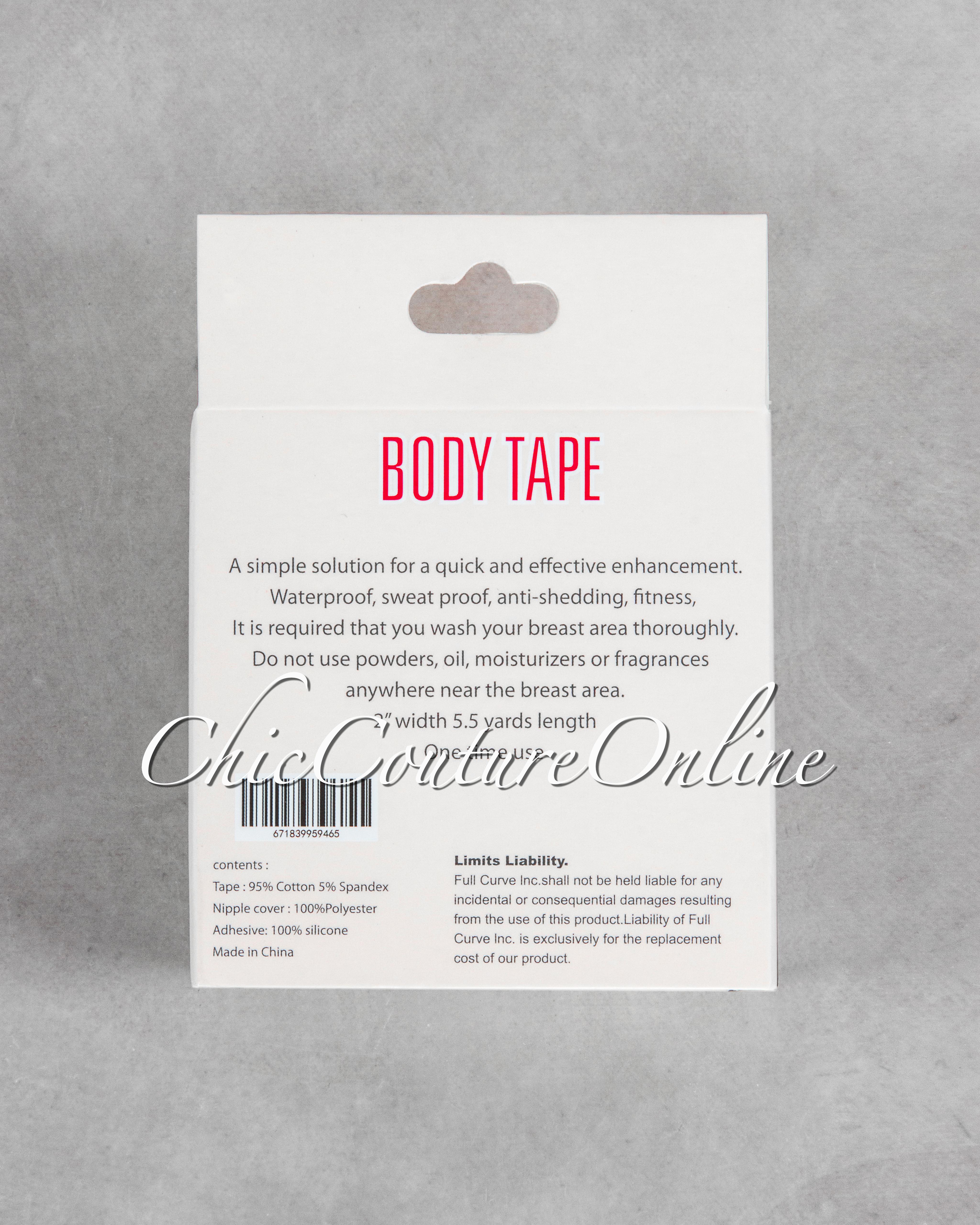Fearless Mocha Instant Lift Body Tape w Nipple Covers