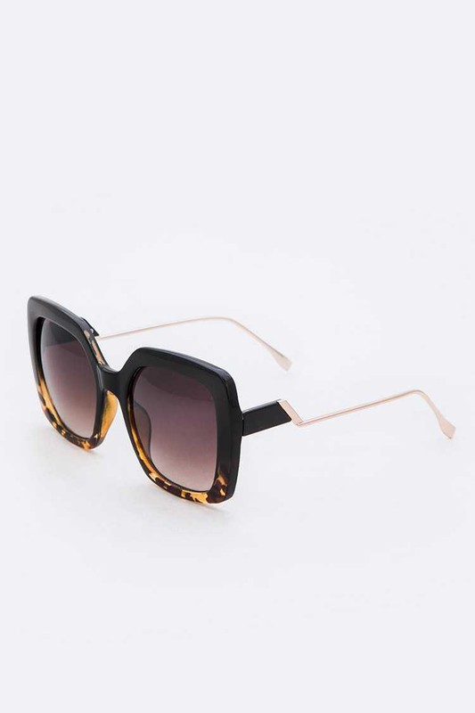 Medona Grey Spotted Square Sunglasses