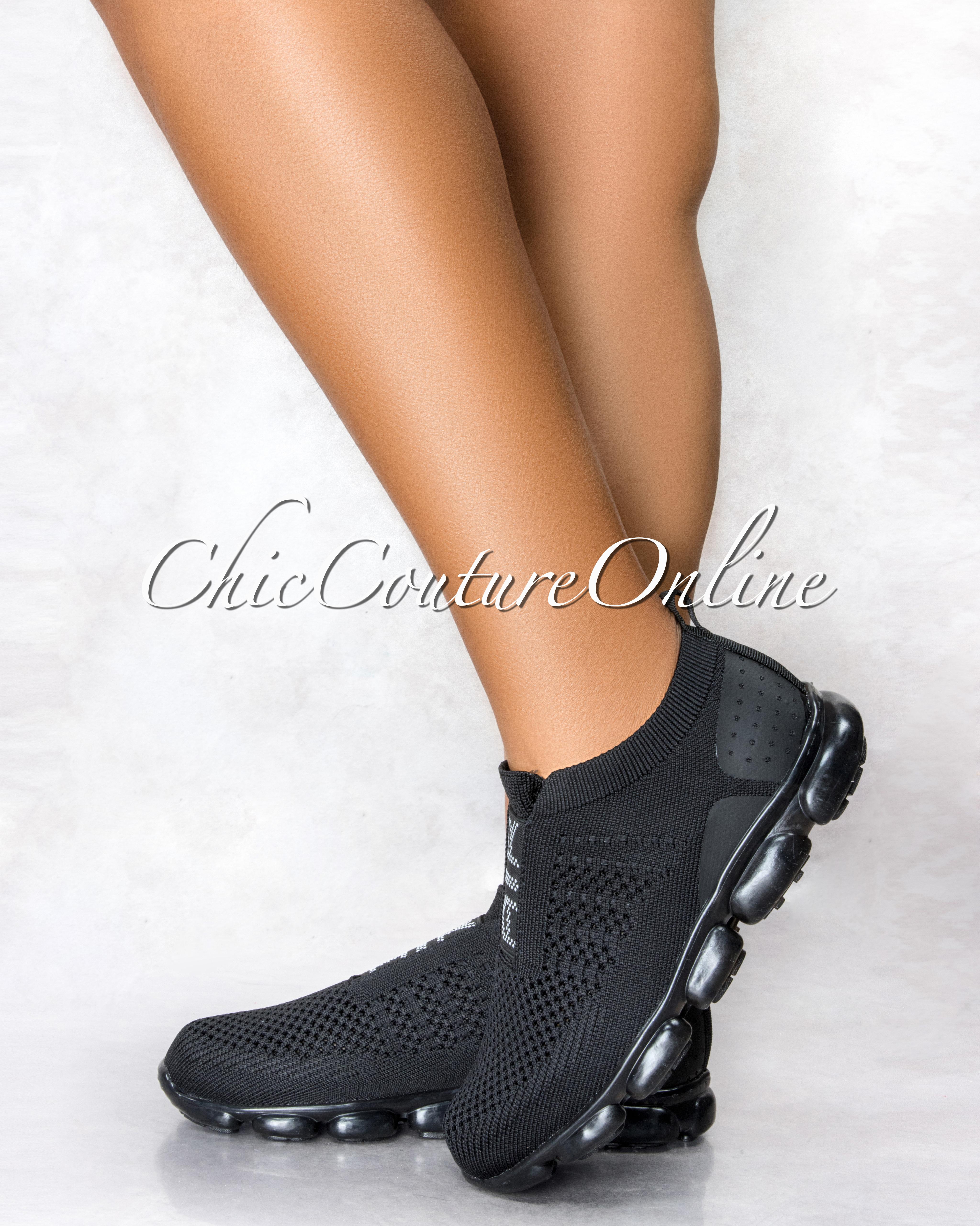 Algis Black Ultra Flex AIR Graphic Sneakers